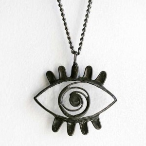Clear Evil Eye Necklace