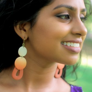 Earthy Lemon Drops - Statement Earrings
