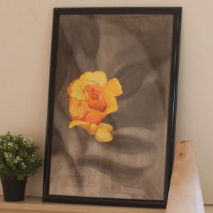 Handmade Artwork Three Dimensional Flowers Painting