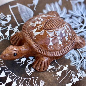 Small Handpainted Eco-Friendly Papier Mache Turtle